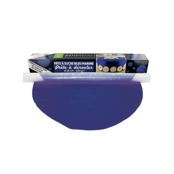 Achat en ligne Pâte à sucre à dérouler  bleu marine 430g