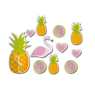 Patisdecor décor en sucre ananas flamant rose