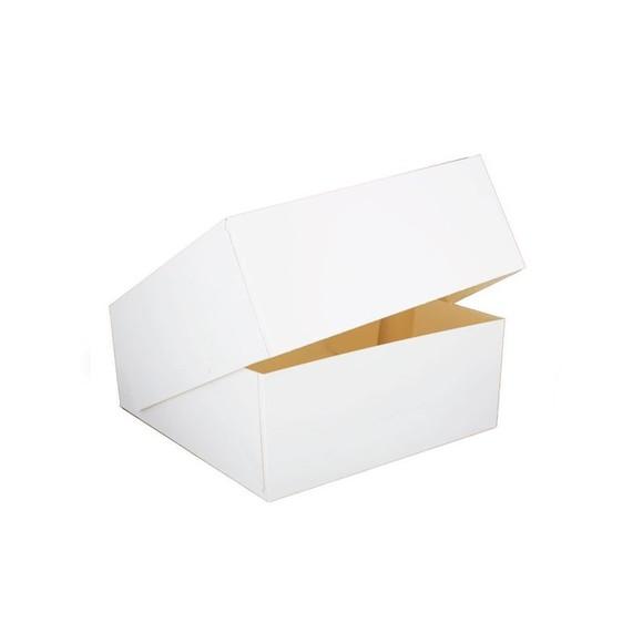 Boîte patissière blanche 20x20x10cm