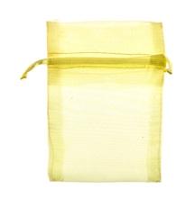 Achat en ligne 10 pochettes en organza jaune 10 cm