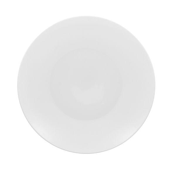 Assiette plate en porcelaine blanche forme coupe 27 cm
