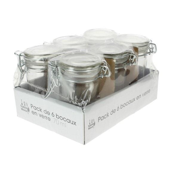 6 verrines mini-pots 70ml