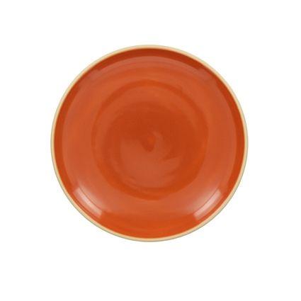 Achat en ligne Assiette à dessert terracota brillant 20 cm