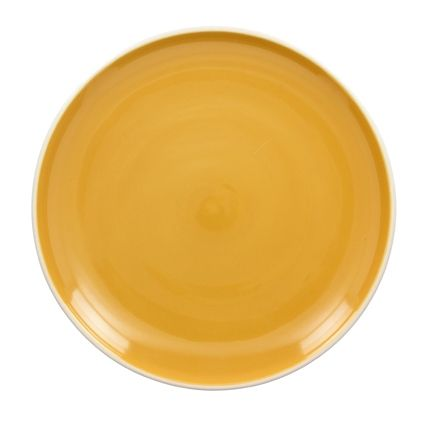 Assiette plate curry brillant 26 cm