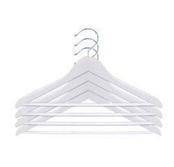 compra en línea Set de 4 perchas infantiles de camisa y pantalón en madera blanca