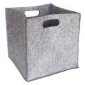Panier en feutre soft gris clair 31x31x31cm