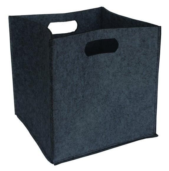 Achat en ligne Panier en feutre soft gris anthracite 31x31x31cm