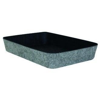 Organisateur bicolore noir et gris en feutre 27x19x4.5cm