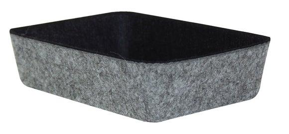 Achat en ligne Organisateur bicolore noir et gris en feutre 18x13x4.5cm
