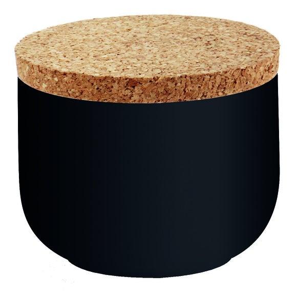Boite à coton ceramique liège Odémira noir