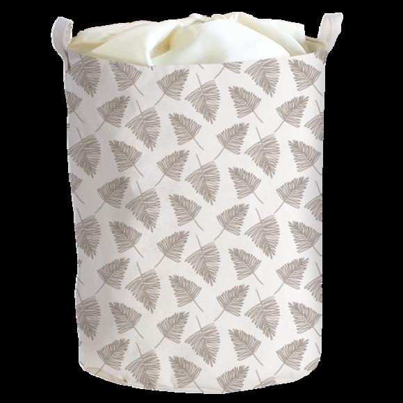 Panier à linge motif sapin avec housse 40x40x50cm