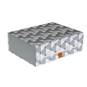 Boîte petits triangles en carton pliable fermeture aimantée