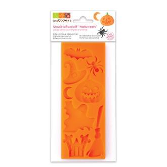 SCRAPCOOKING - Moule pour réalisation de décors Halloween en pâte à sucre