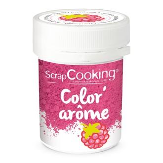 SCRAPCOOKING - Color'arôme en poudre rose framboise en pot 10g