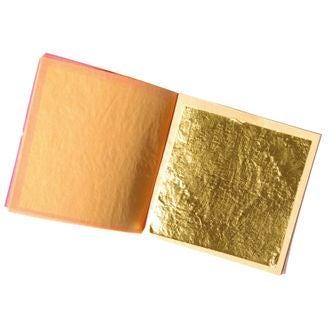 SCRAPCOOKING - Set de 5 feuilles alimentaires en or 22 carats en carnet 0,10g
