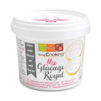 SCRAPCOOKING - Mix glaçage royal blanc en pot 190g
