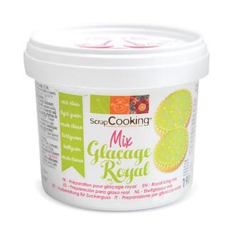 SCRAPCOOKING - Mix glaçage royal vert clair en pot 190g