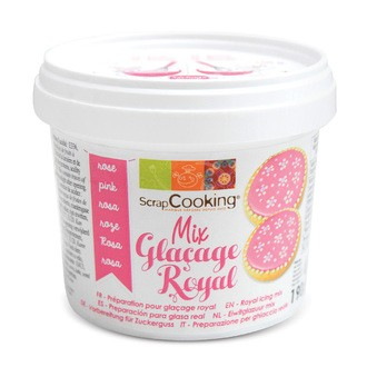 SCRAPCOOKING - Mix glaçage royal rose en pot 190g