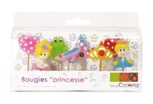 Achat en ligne Set de 8 bougies princesse
