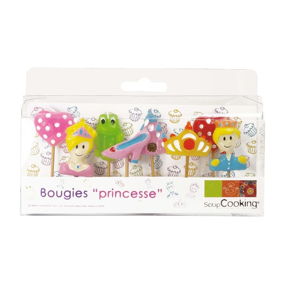 Set de 8 bougies princesse