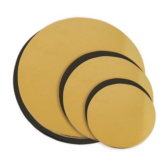 Achat en ligne Lot de 6 supports à gâteaux doré et noir 14-22cm