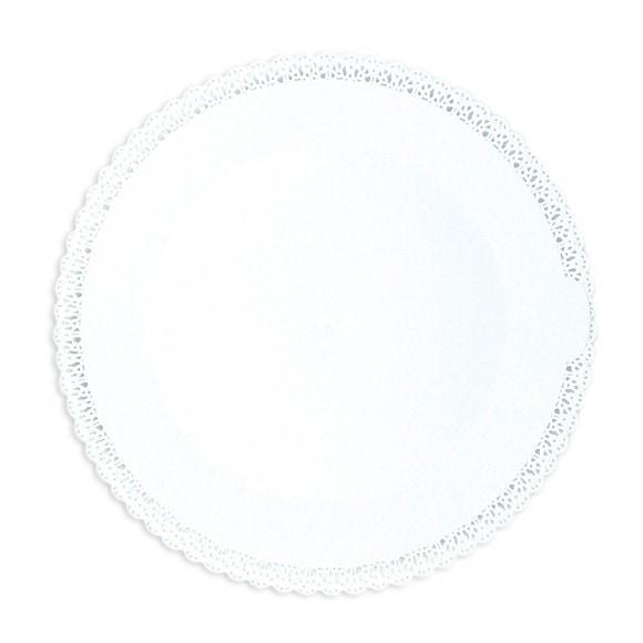 acquista online Piatto per torta con merletto bianco 32 cm