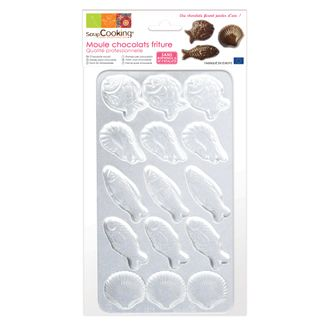 SCRAPCOOKING - Moule à chocolat 15 fritures en PVC