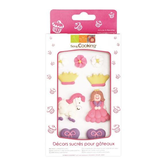 9 sujets princesses en sucre 50g