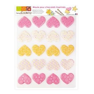SCRAPCOOKING - Moule à chocolats 20 coeurs en plastique