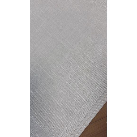 Tovaglia antimacchia quadrata in cotone fiammato grigio 150x150cm