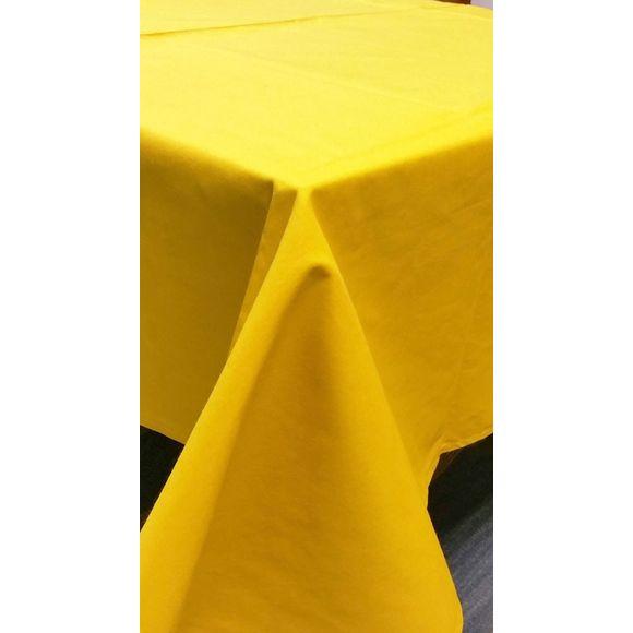 Tovaglia antimacchia quadrata in cotone, senape, 150x150 cm