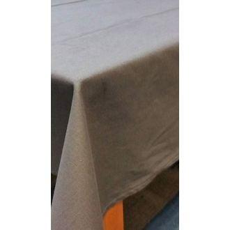 Tovaglia antimacchia rettangolare in cotone, grigio, 150x250 cm