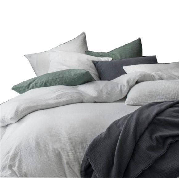 acquista online  Federa in garza di cotone bianco 50X70cm