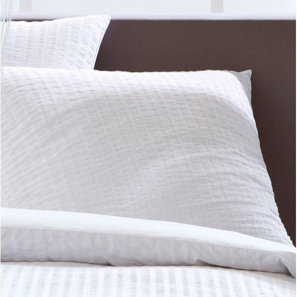 acquista online Federa in cotone percalle bianco stropicciato 50x70cm