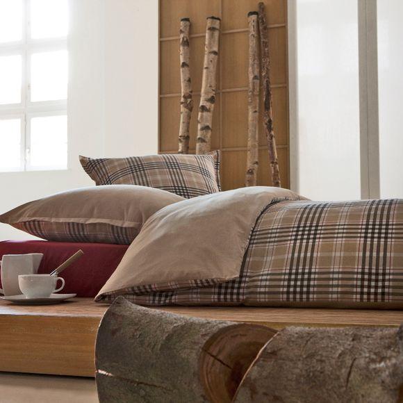 acquista online  Copripiumino in tessuto chambray beige, 140x200cm