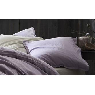 Maom - taie d'oreiller rectangle en lin&coton lavé perle 50x70cm