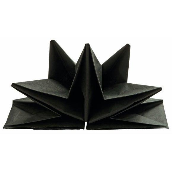 Achat en ligne 12 serviettes en papier-prépliées noir
