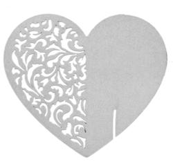 Achat en ligne Marques-place cœur argent satine en sachet de 6