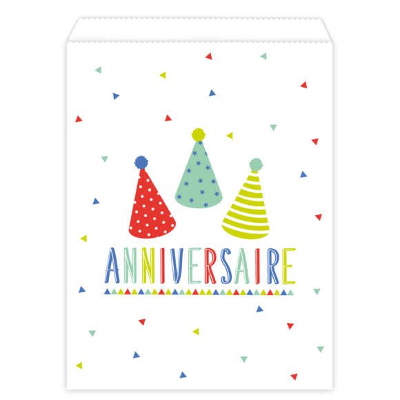 10 sachets papier birthday party