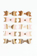 Achat en ligne Marques-place nœuds papillons rose et or en sachet de 10