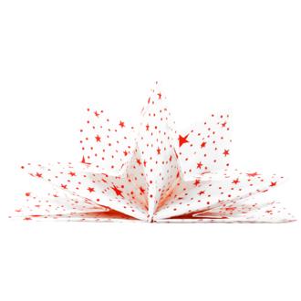 8 serviettes prépliées 40x60 cm blanches étoiles rouges