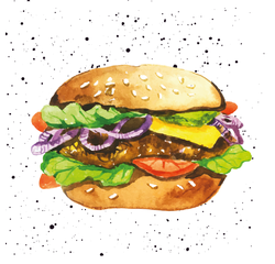 acquista online 20 serviettes 33x33 cm hamburger