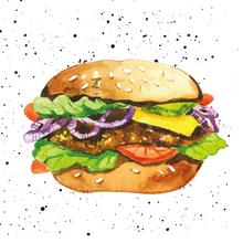Achat en ligne 20 serviettes 33x33 cm hamburger