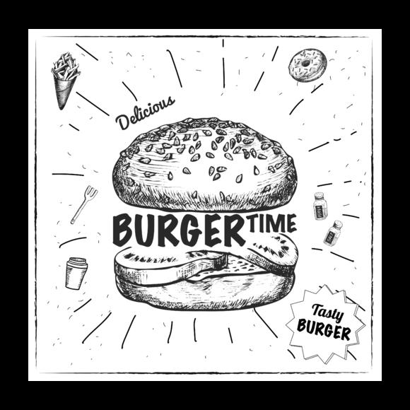 Sachet de 20 papiers burger 30x30cm