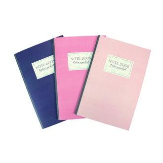 set de 3 cahiers A5 souple rose 40 p lignées