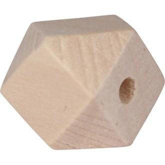 Lot de 8 perles géométriques en bois 1,5cm de diamétre