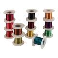 Lot de 12 bobines de fil de métal aux couleurs assortis