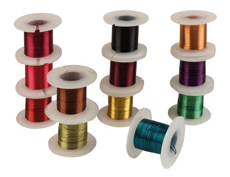 Achat en ligne Lot de 12 bobines de fil de métal aux couleurs assortis