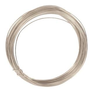 Bobine de fil d'aluminium argent 0,4mmx10m