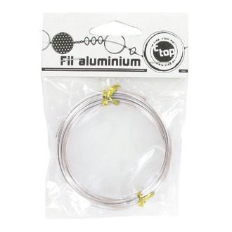 Indispensables - Bobine de fil d'aluminium argent 2mmx2m